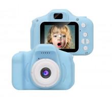 Фотоаппарат детский цифровой Photo Camera Kids (как настоящий). Цвет голубой. Арт. KVR-001