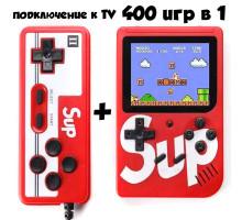 Игровая консоль sup game box plus 400 в 1 (приставка денди) + джойстик. Цвет красный. Арт. Sup-400-red