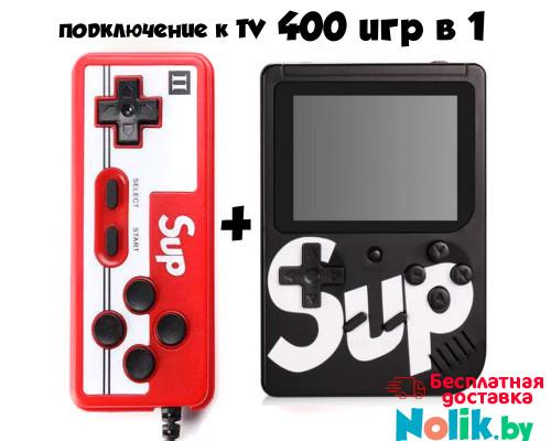 Игровая приставка Денди ГеймБокс Sup game box plus 400 в 1 (8 bit Classic) c Джойстиком (приставка ). Цвет черный. Арт. Sup-400-black в Минске