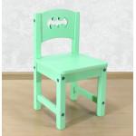 """Стул детский из массива деревянный """"Бэтмен"""". Высота до сиденья 27 см. Цвет салатовый. Арт. SO-27-b"""