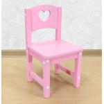"""Стульчик детский деревянный """"Сердечко"""". Высота до сиденья 27 см. Цвет розовый. Арт. SO-27-s"""
