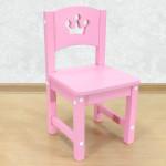 """Стульчик детский деревянный из массива """"Принцесса"""". Высота до сиденья 27 см. Цвет розовый. Арт. SO-27-p"""