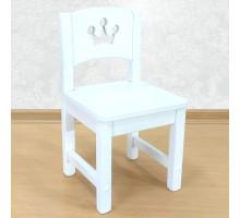 """Деревянный детский стульчик из массива """"Принцесса"""". Высота до сиденья 27 см. Цвет белый. Арт. SO-27-p"""