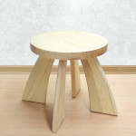 Табуретка детская деревянная круглая. Детский табурет. Высота до сиденья 27 см. Цвет натуральный. Арт. TZ-27-N