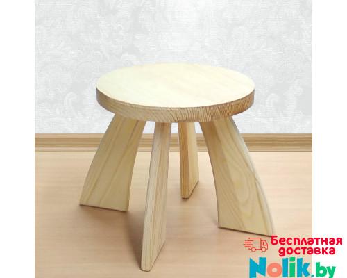 Табуретка детская деревянная круглая. Детский табурет. Высота до сиденья 27 см. Цвет натуральный. Арт. TZ-27-N в Минске