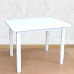 Деревянный столик со скругленными углами для игр и занятий (столешница ламинированная 70*50см). Высота 50 см. Цвет белый. Арт. 7050W