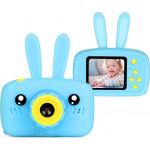 Фотоаппарат детский цифровой Зайка Kids Camera Rabbit (как настоящий). Цвет голубой. Арт. KC600 М