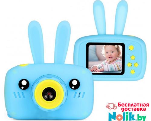 Фотоаппарат детский цифровой Зайка Kids Camera Rabbit (как настоящий). Цвет голубой. Арт. KC600 М в Минске