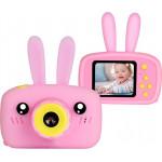Детская цифровая камера Зайка Kids Camera Rabbit (как настоящий). Цвет розовый. Арт. KC600 М