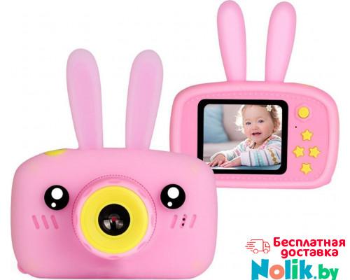 Детская цифровая камера Зайка Kids Camera Rabbit (как настоящий). Цвет розовый. Арт. KC600 М в Минске