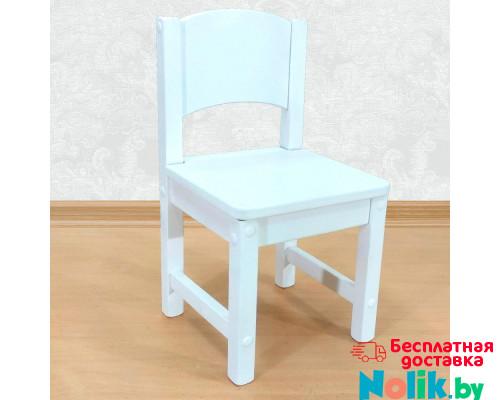 Стульчик детский деревянный из массива. Высота до сиденья 30 см. Цвет белый. Арт. SO-30 в Минске