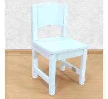 Детский стульчик деревянный из массива. Высота до сиденья 27 см. Цвет белый. Арт. SO-27