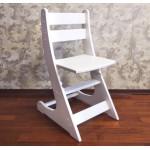 Детский растущий стул Выростайка-мини. Регулируемый стульчик по высоте (27-30-33-38 см). Цвет белый. Арт. Выростайка-мини