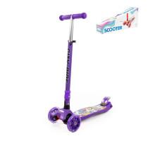 Самокат для детей (со складной ручкой) (с наклейкой V1) (фиолетовый) арт. #0072C-V1(Ф). Полесье