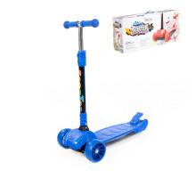 Самокат для детей (со складной ручкой) (синий) (в коробке) арт. TJ-705L-V(С). Полесье