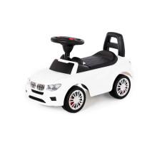 """Каталка-автомобиль """"SuperCar"""" №5 со звуковым сигналом (белая) арт. 84538. Полесье"""