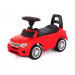"""Каталка для детей """"SuperCar"""" №5 со звуковым сигналом (красная) арт. 84583. Полесье"""