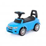 """Аавтомобиль-каталка """"SuperCar"""" №5 со звуковым сигналом (голубая) арт. 84521. Полесье"""