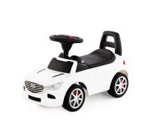 """Каталка-автомобиль """"SuperCar"""" №4 со звуковым сигналом (белая) арт. 84514. Полесье"""