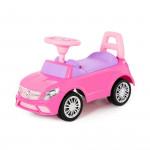 """Каталка-автомобиль """"SuperCar"""" №3 со звуковым сигналом (розовая) арт. 84491. Полесье"""
