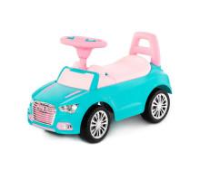 """Каталка-автомобиль """"SuperCar"""" №2 со звуковым сигналом (бирюзовая) арт. 84576. Полесье"""