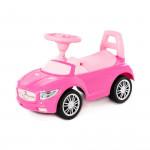 """Аавтомобиль-каталка """"SuperCar"""" №1 со звуковым сигналом (розовая) арт. 84477. Полесье"""