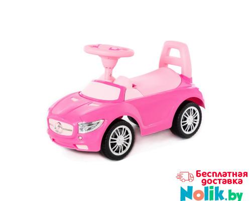 """Аавтомобиль-каталка """"SuperCar"""" №1 со звуковым сигналом (розовая) арт. 84477. Полесье в Минске"""