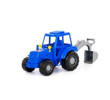 """Трактор """"Алтай"""" (синий) с лопатой (в сеточке) арт. 84866. Полесье"""