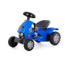 """Каталка-трактор с педалями """"Turbo-2"""" (синяя) арт. 84644. Полесье"""