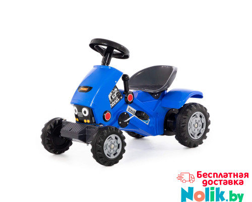 "Каталка-трактор с педалями ""Turbo-2"" (синяя) арт. 84644. Полесье в Минске"