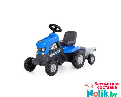 """Каталка-трактор с педалями """"Turbo"""" (синяя) с полуприцепом арт. 84637. Полесье в Минске"""