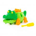 """Конструктор """"Крокодил"""" (17 элементов) (в пакете) арт. 84446. Полесье"""