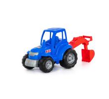 """Трактор """"Чемпион"""" (синий) с лопатой (в сеточке) арт. 84736. Полесье"""