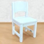 Детский стульчик деревянный из массива. Высота до сиденья 23 см. Цвет белый. Арт. SO-23