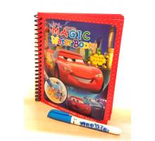 Водная раскраска Magic Water Book Тачки + водный маркер.  Арт. BH-17