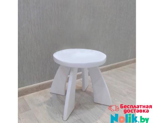 Табуретка детская деревянная круглая. Детский табурет. Высота до сиденья 27 см. Цвет белый. Арт. TZ-27-O в Минске