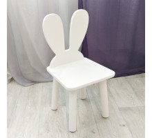 """Стульчик детский деревянный """"Зайчик"""". Высота до сиденья 27 см. Цвет белый. Арт. MD-27-U"""