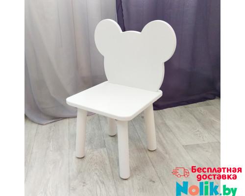 """Стульчик детский деревянный """"мишка"""". Высота до сиденья 27 см. Цвет белый. Арт. MD-27-M в Минске"""